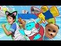 RYAN ESCAPES ALL PETS IN ROBLOX! Let's Play Roblox Pet Escape 2 with Big Gil
