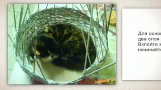 Домик для кошки своими руками. Просто и быстро