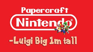Papercraft Luigi Big (1m/40 inch tall)