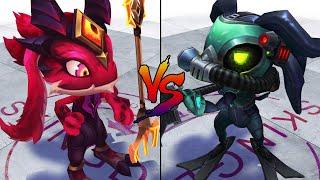 Little Devil Fizz vs Omega Squad Fizz Skin Comparison Spotlight (League of Legends)