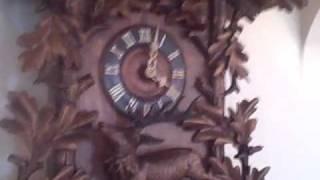 Huge 3 Ft Carved Antique Black Forest Cuckoo Clock Www.blackforestclocks.org