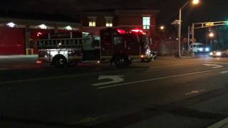 newark fire department engine 10 responding from quarters on clinton avenue in newark new jersey