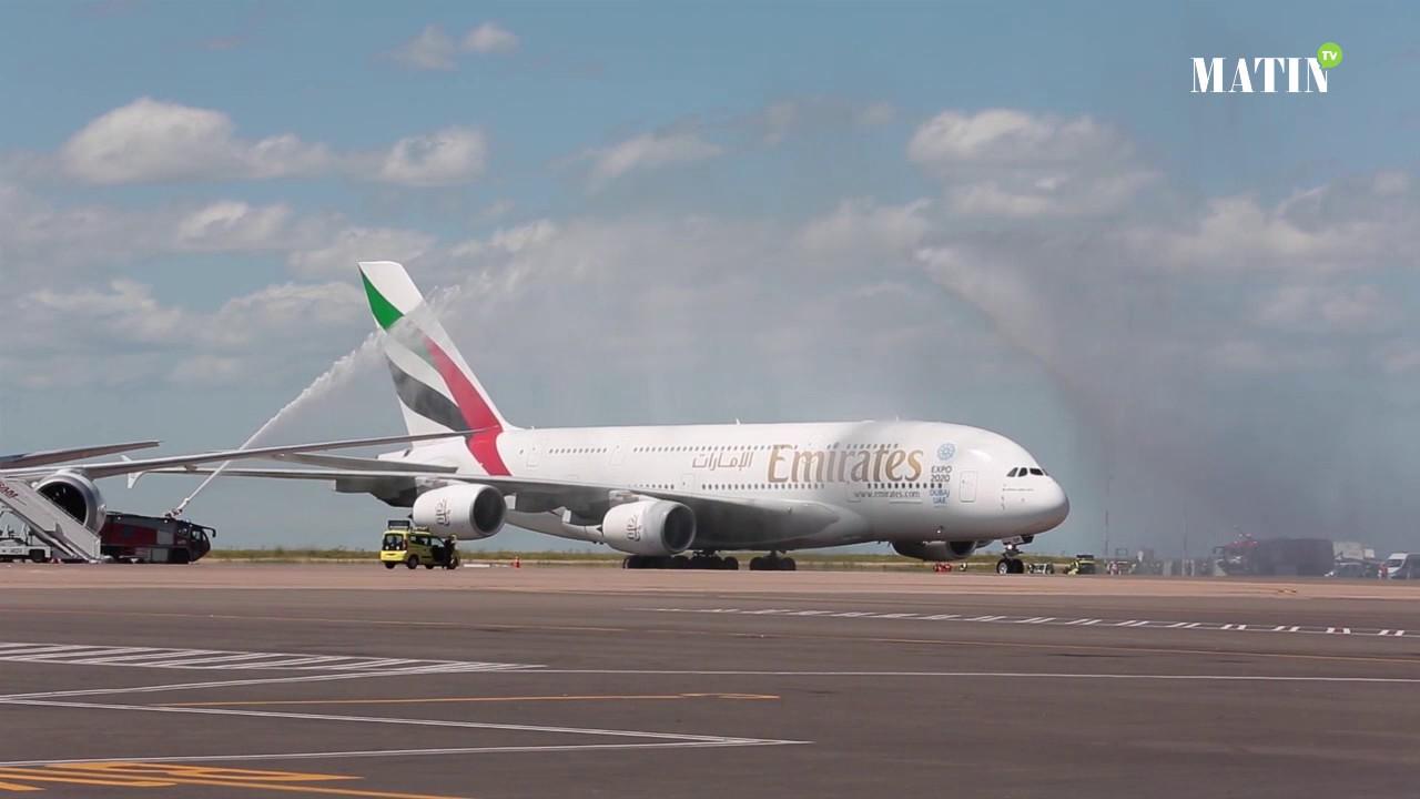 emirates choisit le maroc pour le premier vol de la380 en afrique du nord