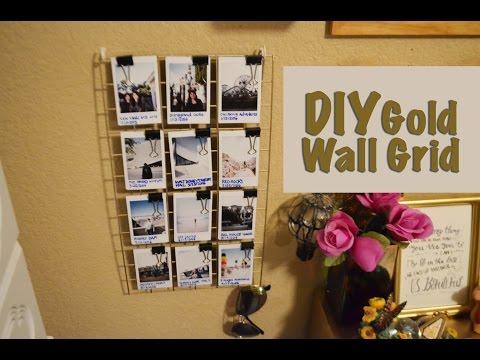 DIY Project #5 : DIY Gold Wall Grid