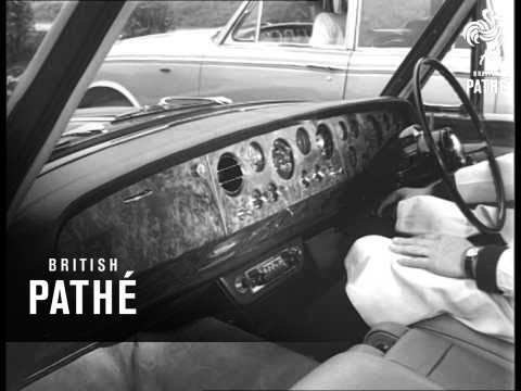 New 'silver Shadow' Rolls Royce And Bentley Cars On Show (1965)