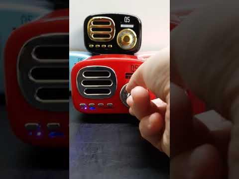 Retro Bluetooth Speaker Bonks Q5 Demo