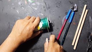 Membuat pena kaligrafi dari kaleng bekas