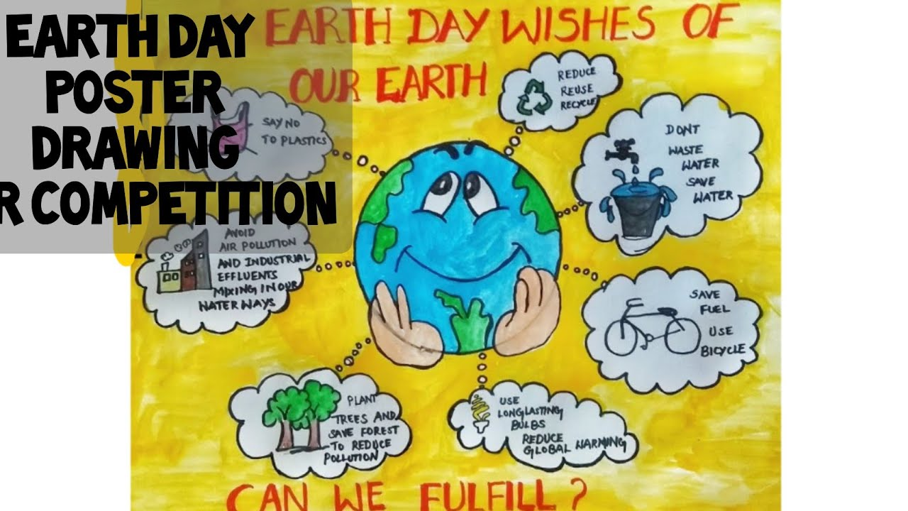 Environment day drawing for kids save earth save environment dayposter competition