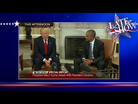 Trump And Obama, Sitting In DC, A-W-K-W-A-R-D