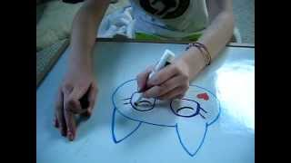 How to draw moshling Lady Meowford Moshi Monsters