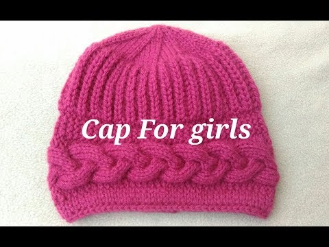 Stylish cap for Girls easy way
