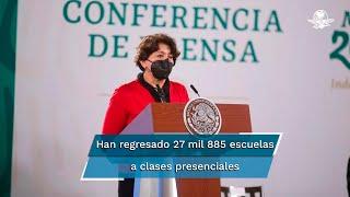 La titular de la SEP, Delfina Gómez informó que de las mil 130 escuelas que habían reabierto para regresar a clases presenciales en la Ciudad de México, cinco decidieron cerrar y retornar a educación a distancia por haberse presentado en ellas casos de contagio por Covid-19