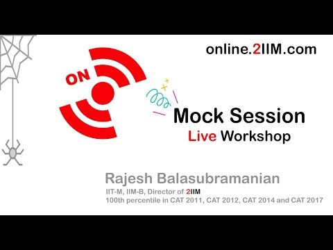 CAT Online Live Mock Session by Rajesh Balasubramanian