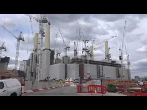 The UK Today - Men At Work At Battersea Power Station  ( LONDON )