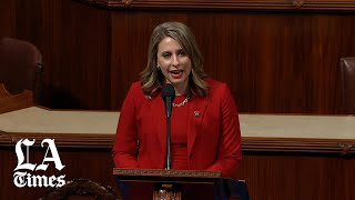 Katie Hill calls out 'misogynistic culture' in farewell speech