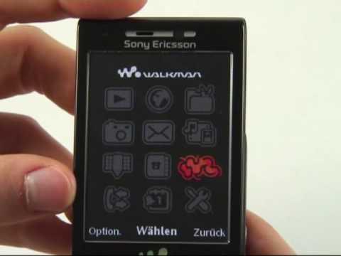 Sony-Ericsson W995 Test Bedienung