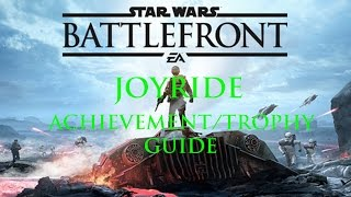 star wars battlefront   safety ain t the point of a joyride achievement trophy guide