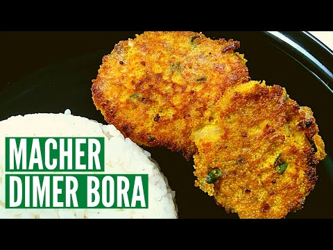 Repeat Fish Egg Fry | Bengali Macher Dimer Bora | Easy Fish