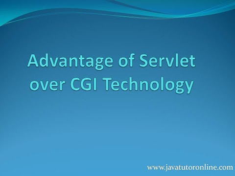 Advantage of Servlet over Cgi Technology | Servlet Tutorial  | javatutoronline.com