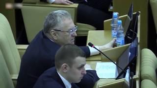 Жириновский брезгует пить воду в Госдуме