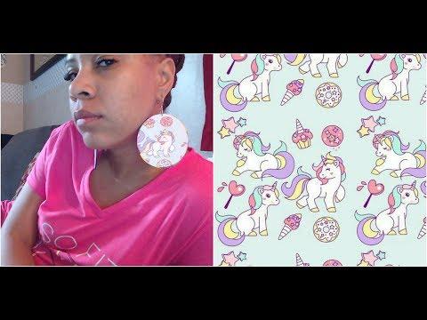 Diy, tutorial, unicorn, tribal custom earrings, simple easy
