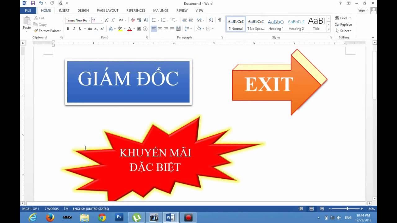 Word 2013 & Word 2016 – Hướng Dẫn Vẽ Hình, Chèn Mẫu, Và Trang Trí Hình Dạng Shapes