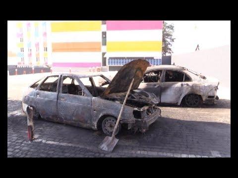 АТН Харьков: В Харькове на парковке сгорели два автомобиля - 15.10.2019