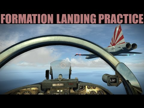 Formation Flying & Landing Practice Session With New