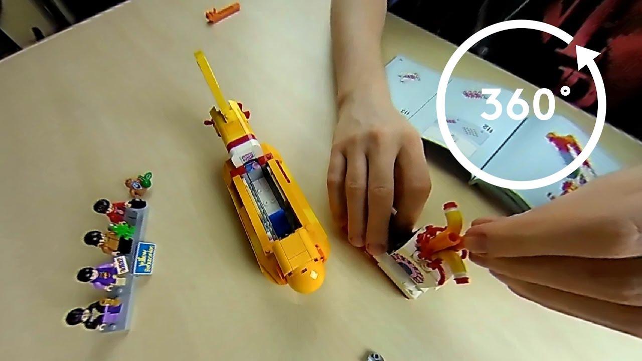 Lego Yellow Submarine Speed Build