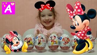 Minnie Mouse unboxing chocolate eggs video for kids розпакування Шоколадних Яєць Мінні Маус