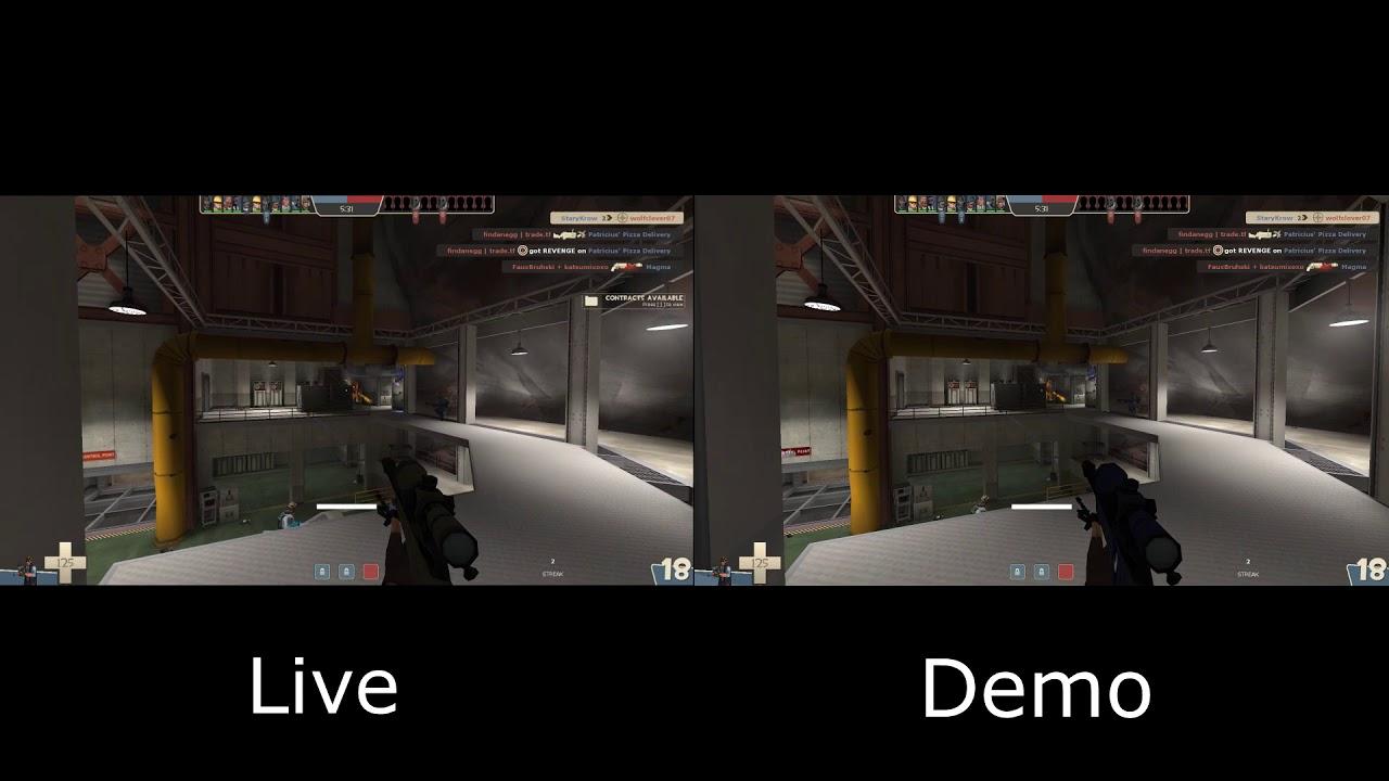 [TF2] Live recording vs  Demo recording