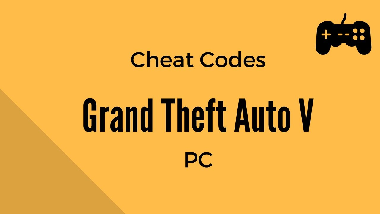 gta v all cheat codes pc