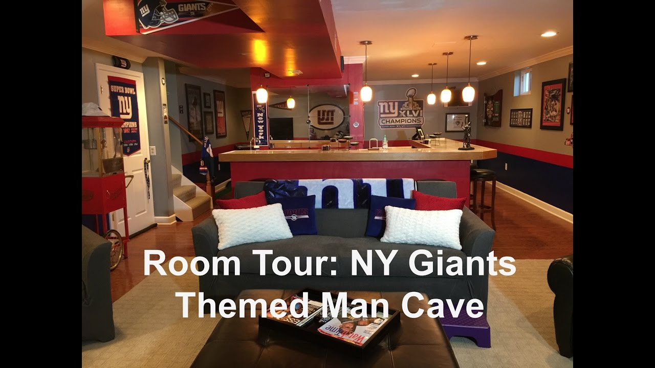 Delicieux Room Tour: NY Giants Themed Man Cave
