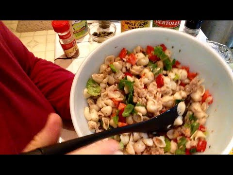 Recipe Reveal, Macaroni Salad (with meat) ASMR gentle whispering