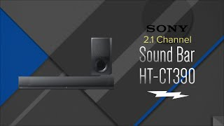 Sony 2.1 Ch. Black Sound Bar With Wireless Subwoofer HTCT390 - Overview