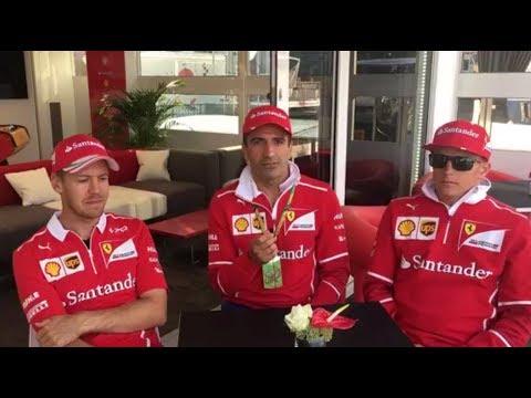 F1 2017 Belgian GP   Thursday - Interview with Sebastian Vettel and Kimi Raikkonen at Spa
