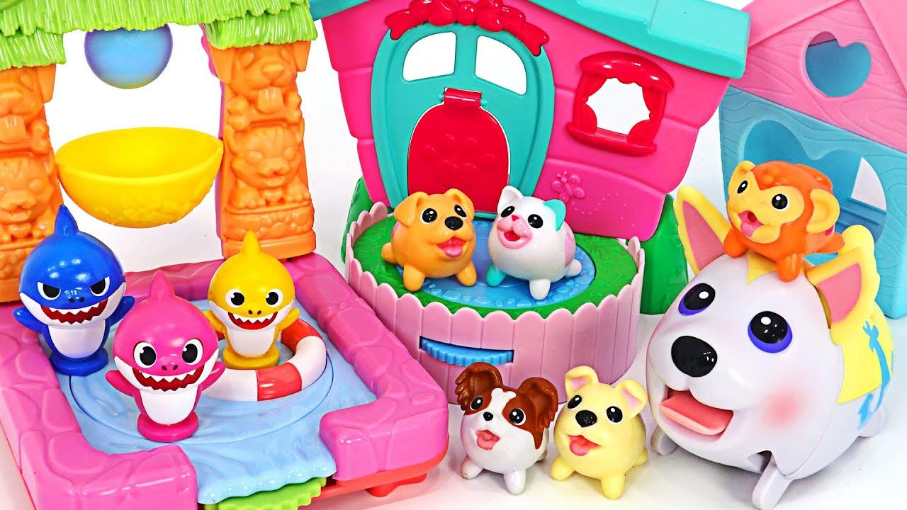 귀여운 츄비퍼피 친구들과 함께 캠핑카 타고 수영놀이 하러가자! | PinkyPopTOY