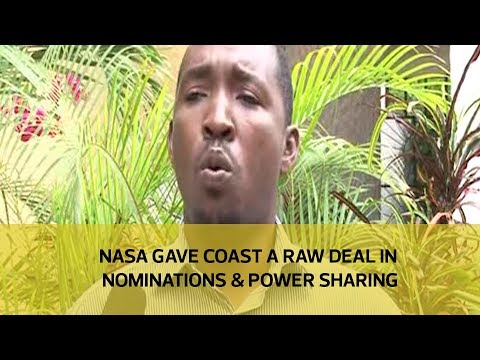NASA gave Coast a raw deal in nominations and power sharing