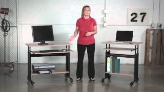 Safco Muv™ Adjustable Height Workstation