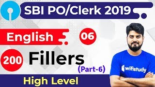 3:00 PM - SBI PO/Clerk 2019 | English by Vishal Sir | 200 Fillers