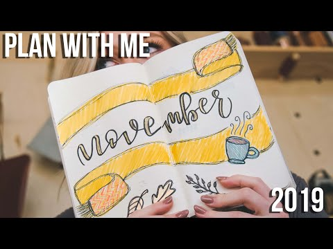 PLAN WITH ME | NOVEMBER 2019 Simple Bullet Journal Setup | Using lined paper for bullet journals?