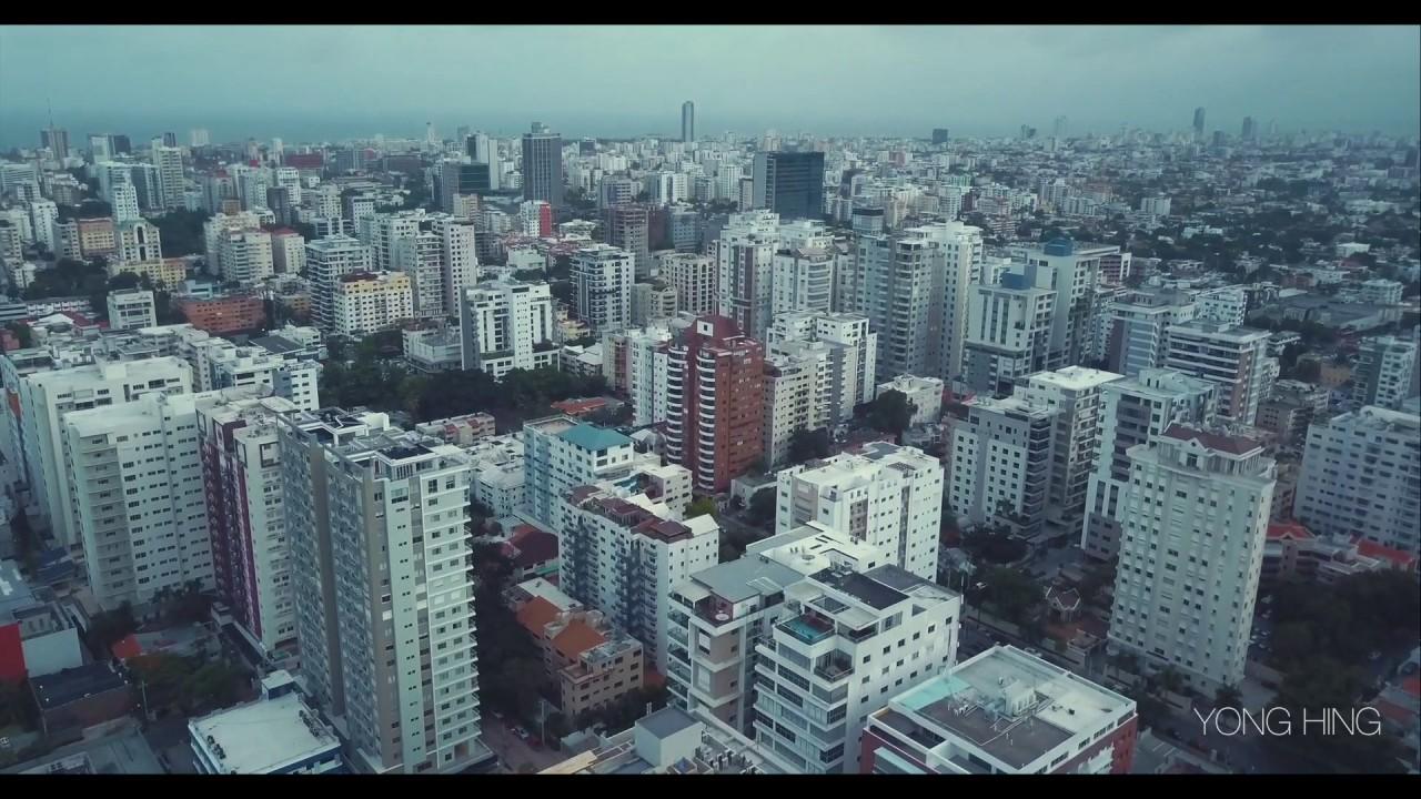 Flying Over Santo Domingo City 2017 - YouTube
