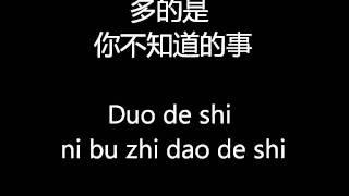 Ni Bu Zhi Dao De Shi Pinyin Lyrics - Wang Li Hong