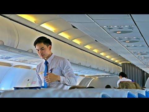 LAO AIRLINES HANDSOME CABIN CREW: QV535 Flight Review: Vientiane-Singapore (VTE SIN)