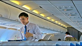 LAO AIRLINES HANDSOME CABIN CREW: QV535 Flight Review: Vientiane-Singapore (VTE SIN)