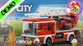 LEGO City Wóz strażacki 60107 budowanie zestawu na żywo