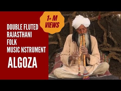 Algoza - the double fluted Rajasthani folk instrument