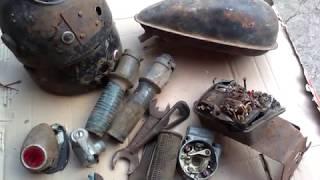 УДАЧНАЯ НАХОДКА НА МЕТАЛЛОЛОМЕ МОТО РЕТРО ЗАПЧАСТЕЙ Abandoned motorcycle