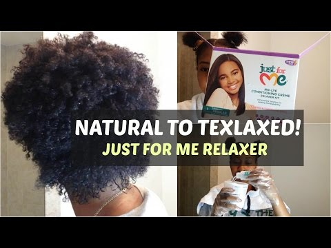 Natural To Texlaxed | Just For Me Relaxer