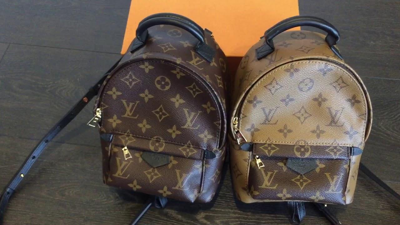 0c24b8702971 Reverse vs regular Palm spring mini backpack - YouTube